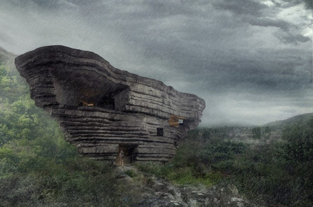 獲P/A建築獎!中國北京「山谷音樂廳」 中空巨石改寫建築想像