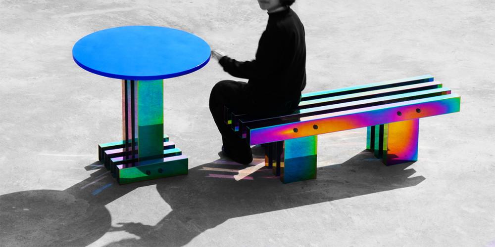 中國新銳設計品牌Buzao不造 「魔幻霓虹不鏽鋼家具」顛覆感官 驚艷「設計上海」