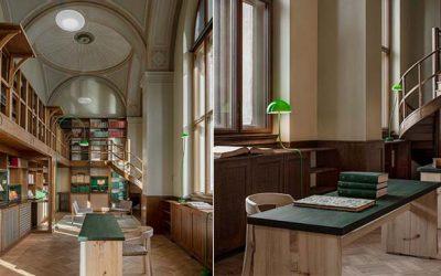 百年歷史圖書館搖身一變成永續空間!落葉木材、橡木扶手椅 Emma Olbers Design創造會呼吸的自然氛圍