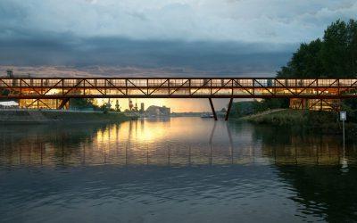 多瑙河上的多功能建築「肘影橋 」塞爾維亞的美學提案