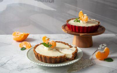 【不插電烘焙】橘香優格生乳酪派 簡單零失誤