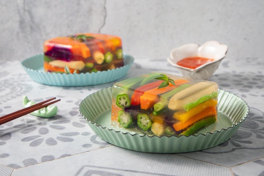 【愛蔬食】美味高顏值 五彩水晶蔬菜凍